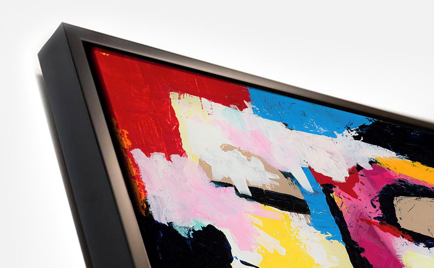Framed canvas - black frame demo