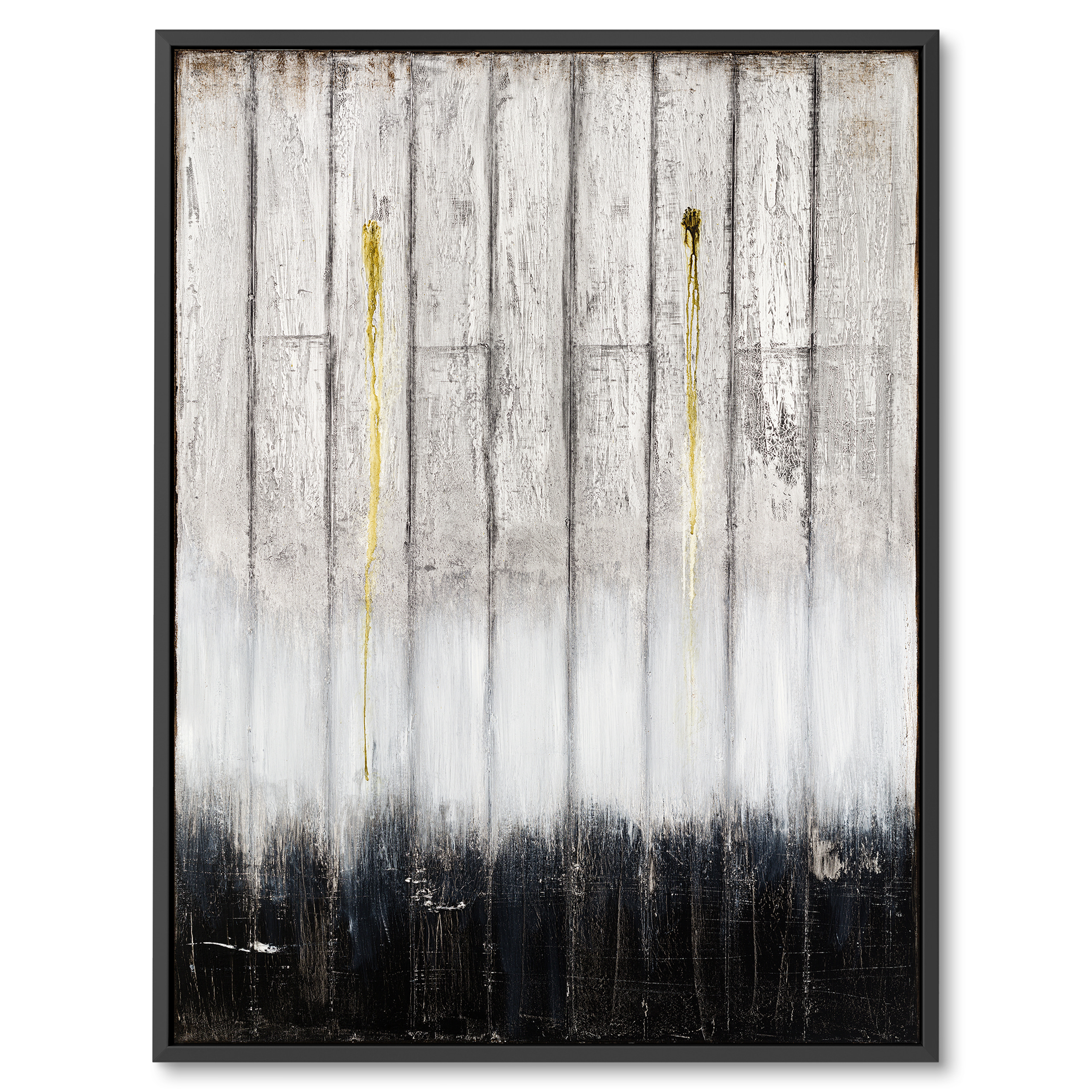 Modern abstract art by Benny Moshe, Black and white, Wooden art
