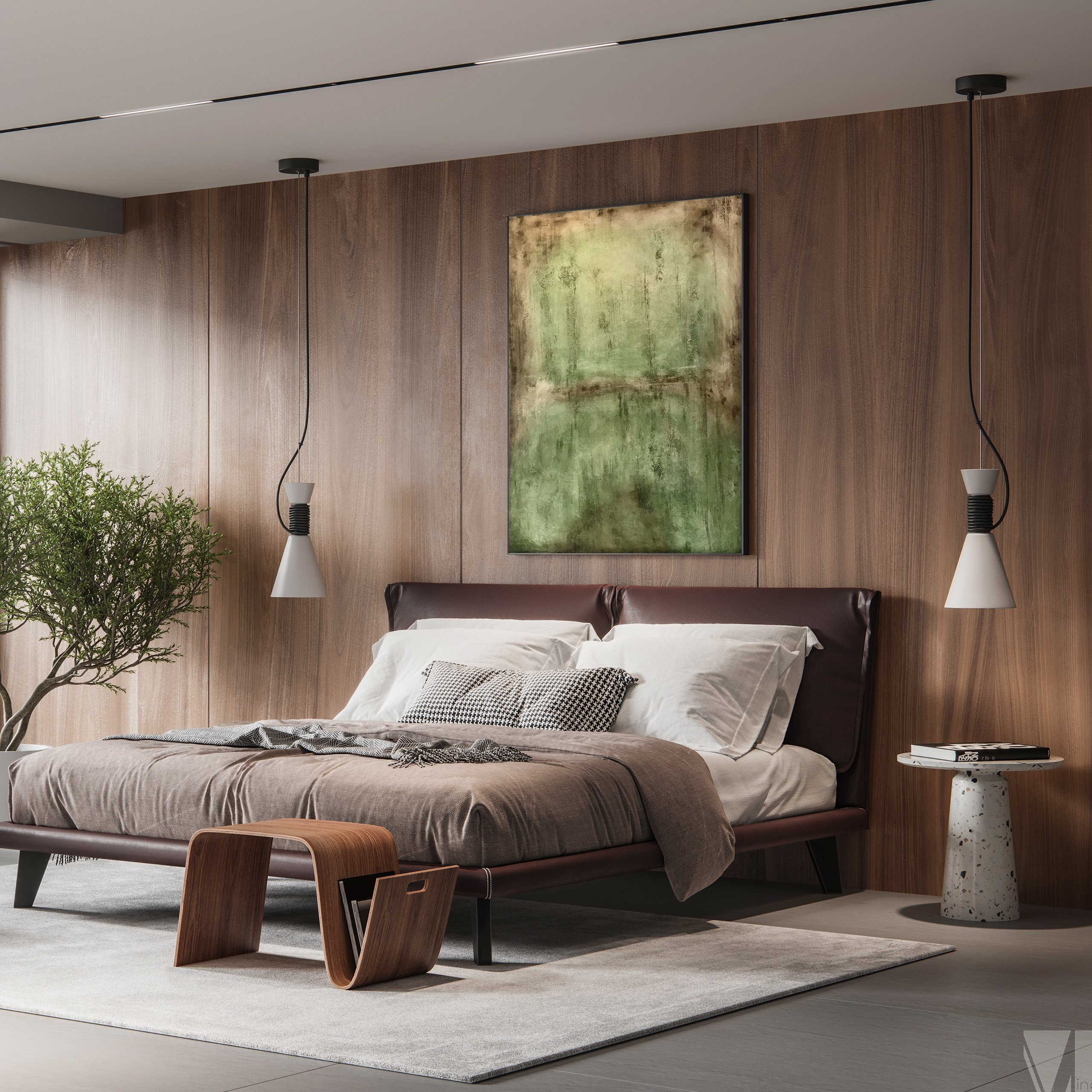 Modern abstract art in modern home design and decor