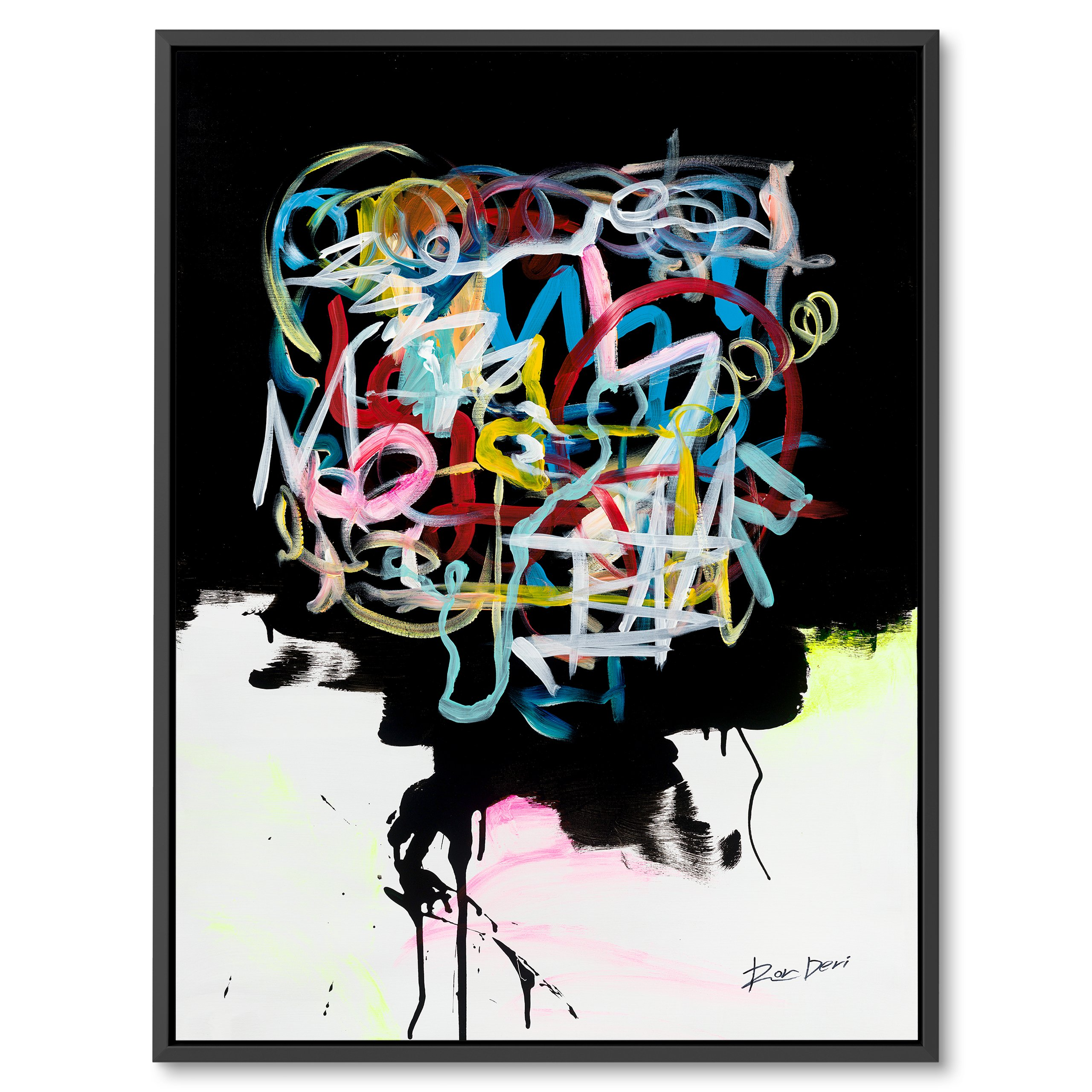Human brain, Colorful abstract art by Ron Deri