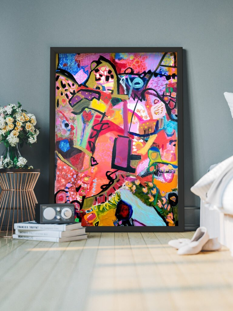 New original abstract art by Michal Rotman Laor