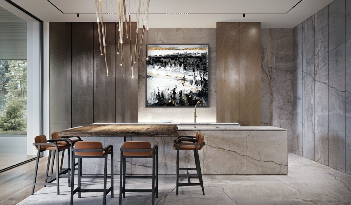 Abstract art in modern home decor