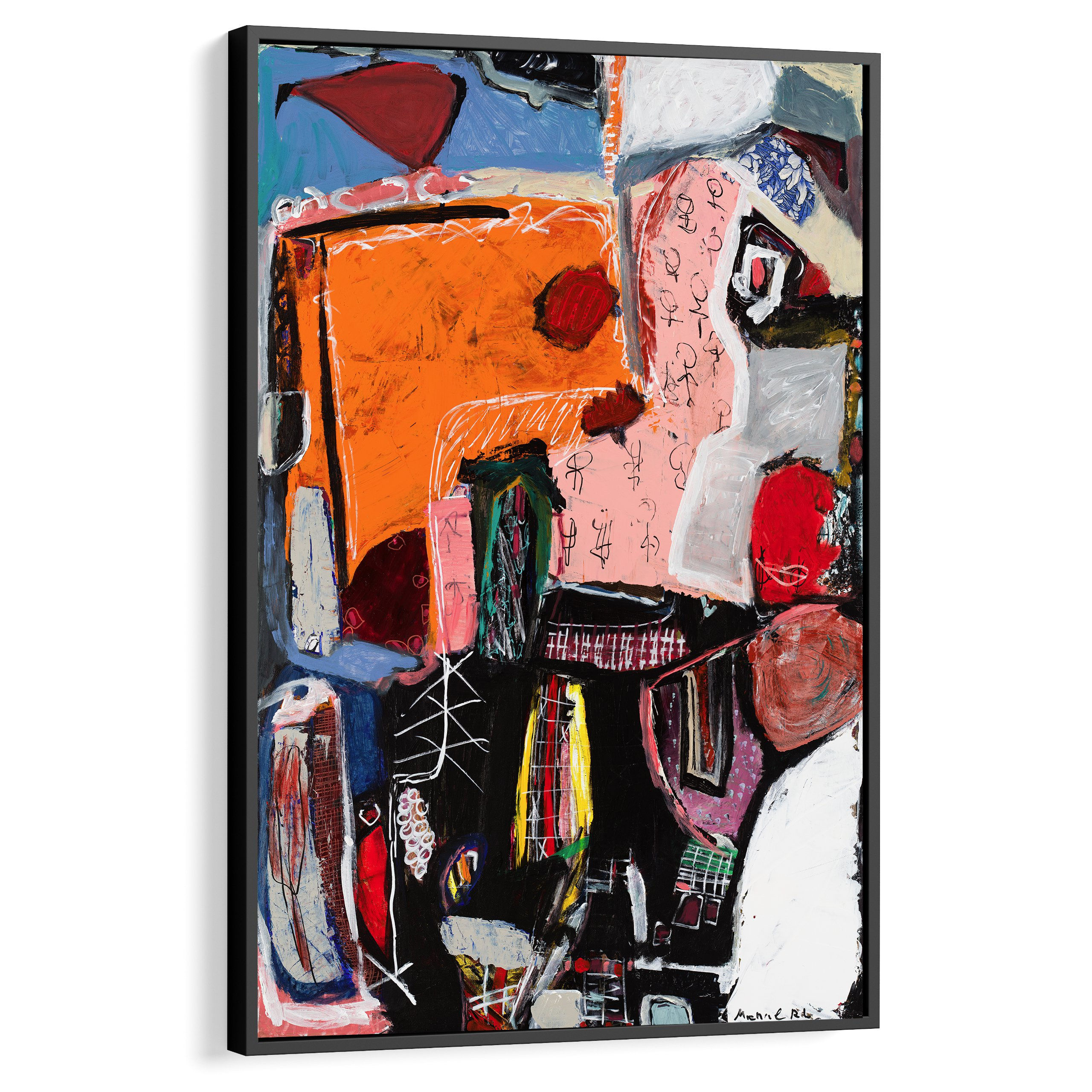 Modern abstract art, Interior design inspiration, Home decor