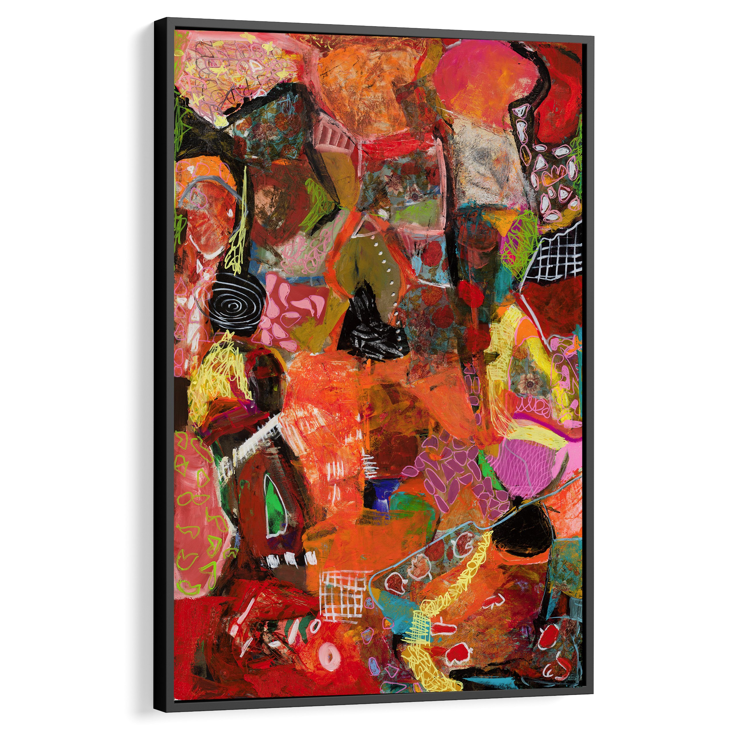 Large abstract art, Modern art, Interior design inspiration