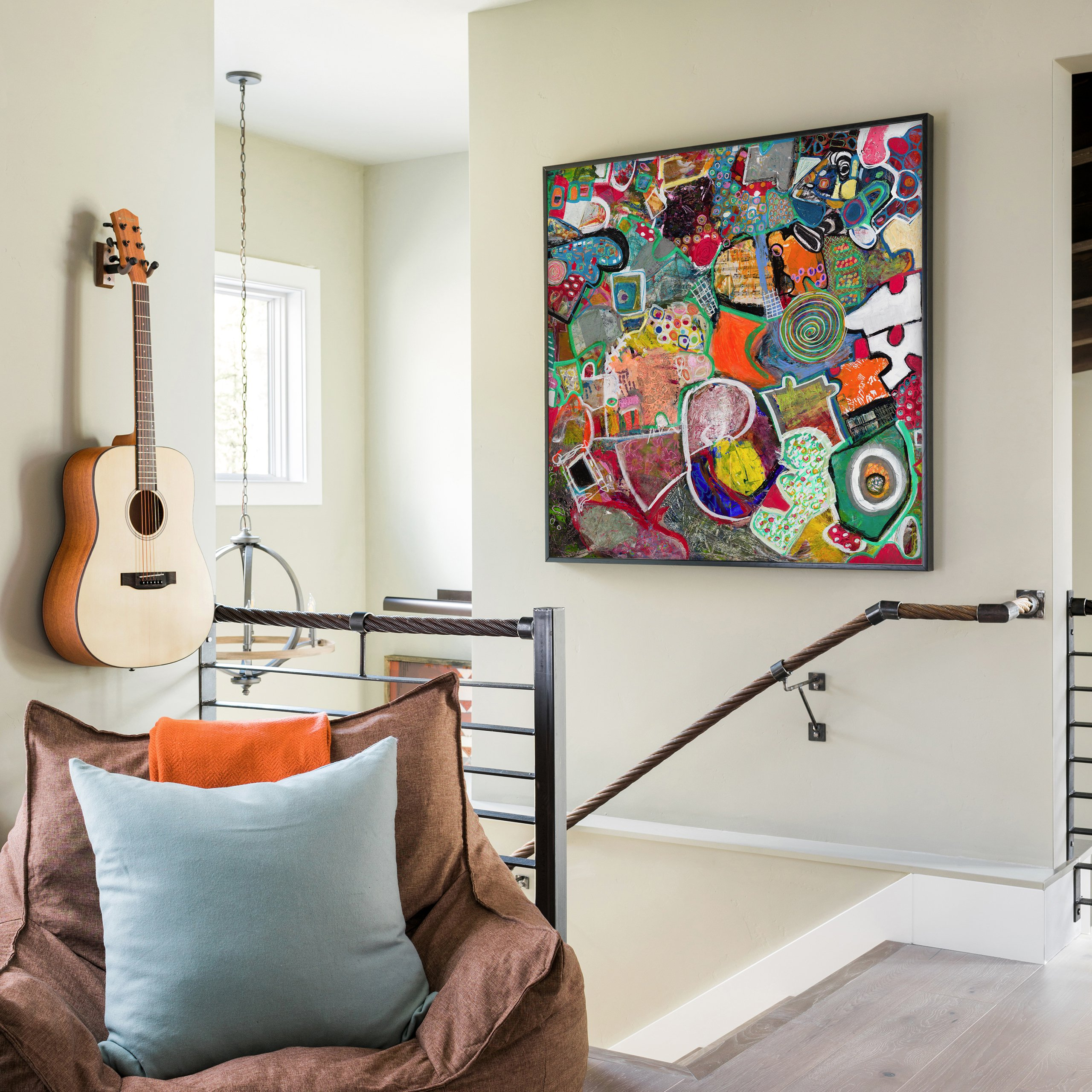 Complex abstract painting for wall decor