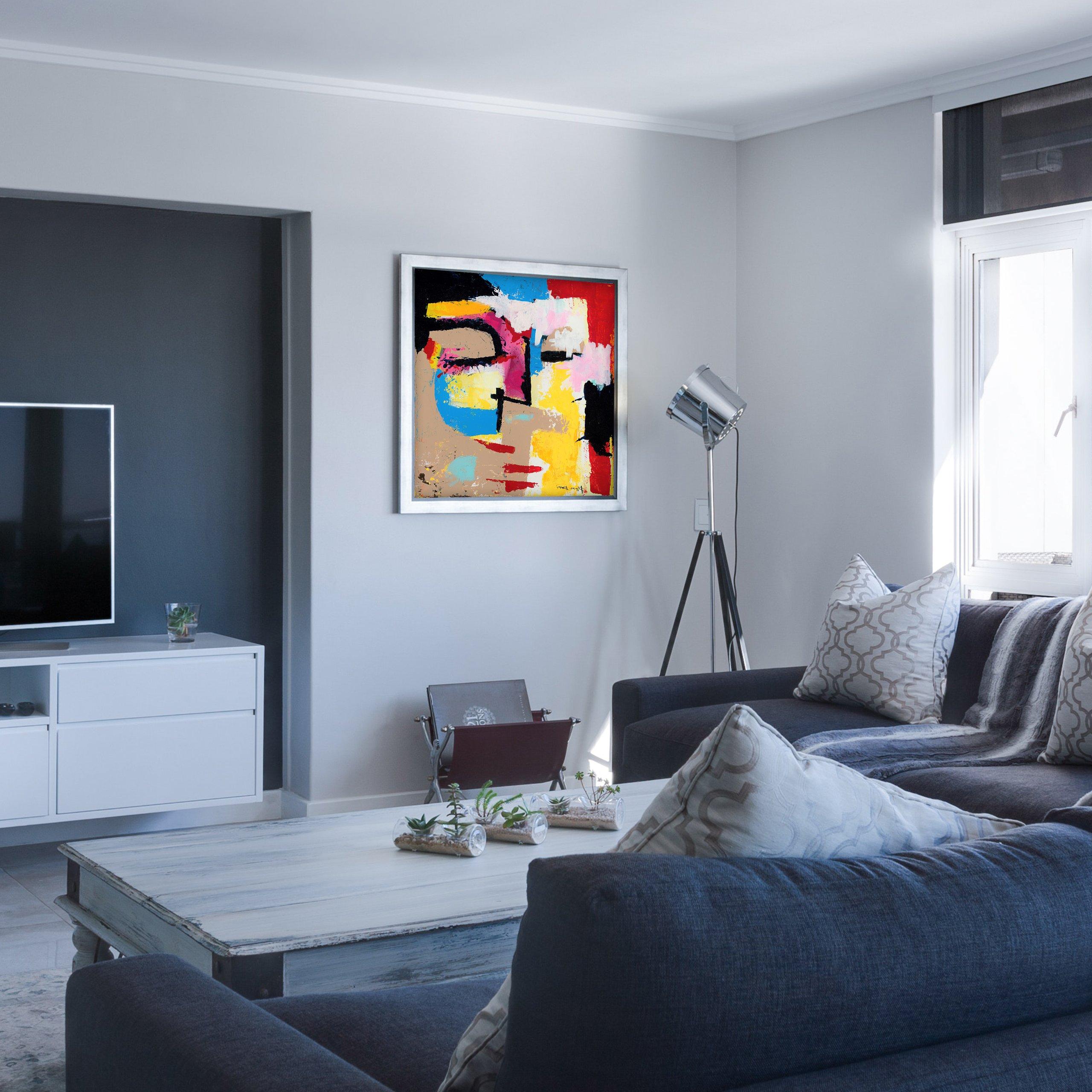 Modern abstract art in modern home decor
