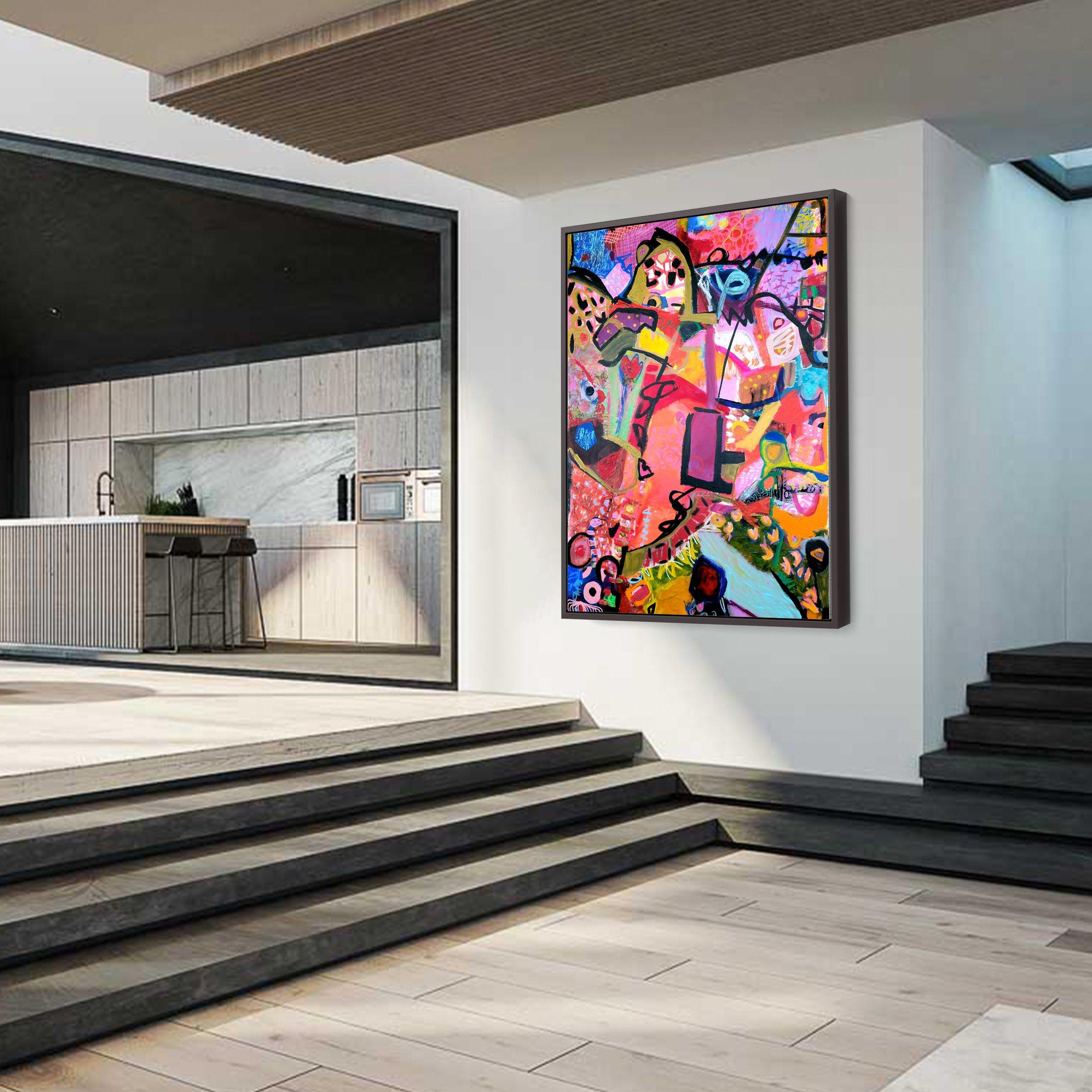Modern abstract art in a modern design home
