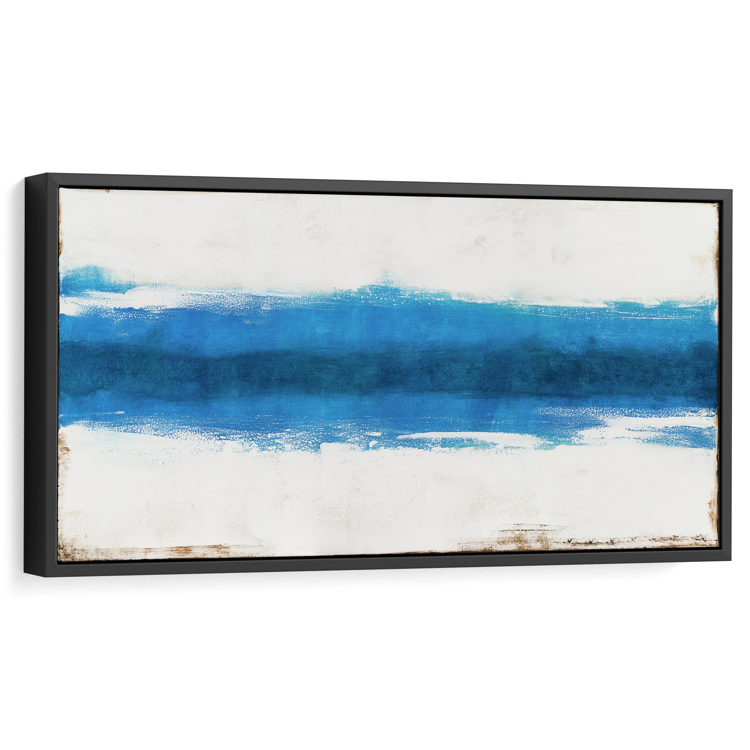 Nature abstract wall art for interior design and home decor, Blue, Large, Wide, Modern art