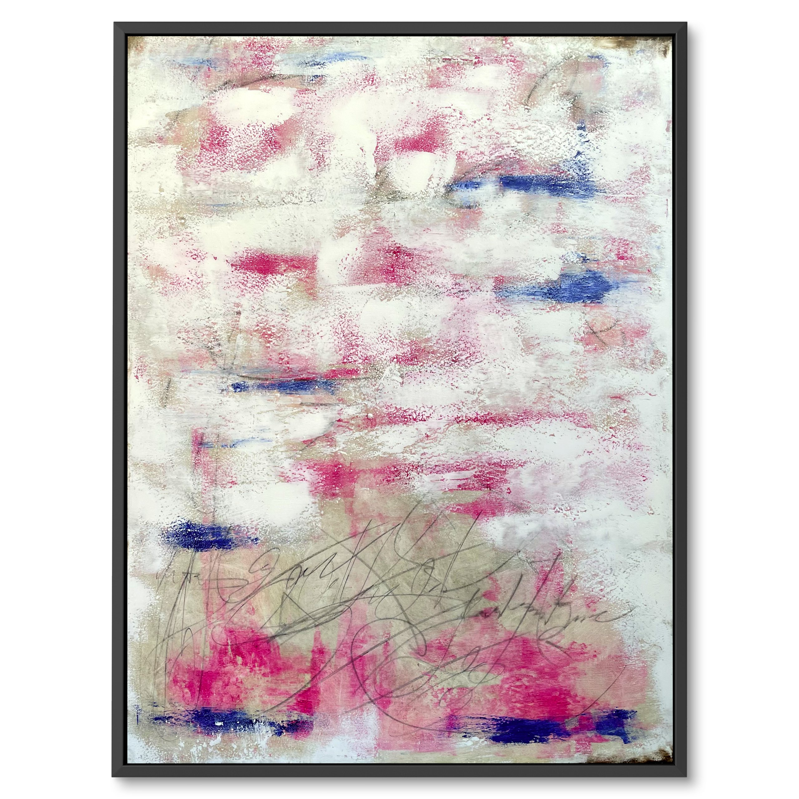 Abstract art, Modern art, Contemporary art - Light tones, Painting for sale by benny moshe, Pink and blue