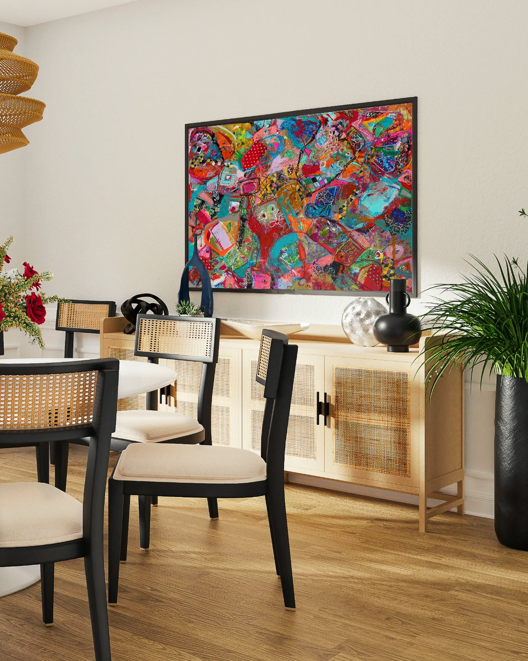 Abstract wall art, Canvas painting, Interior design inspiration, Home revamp