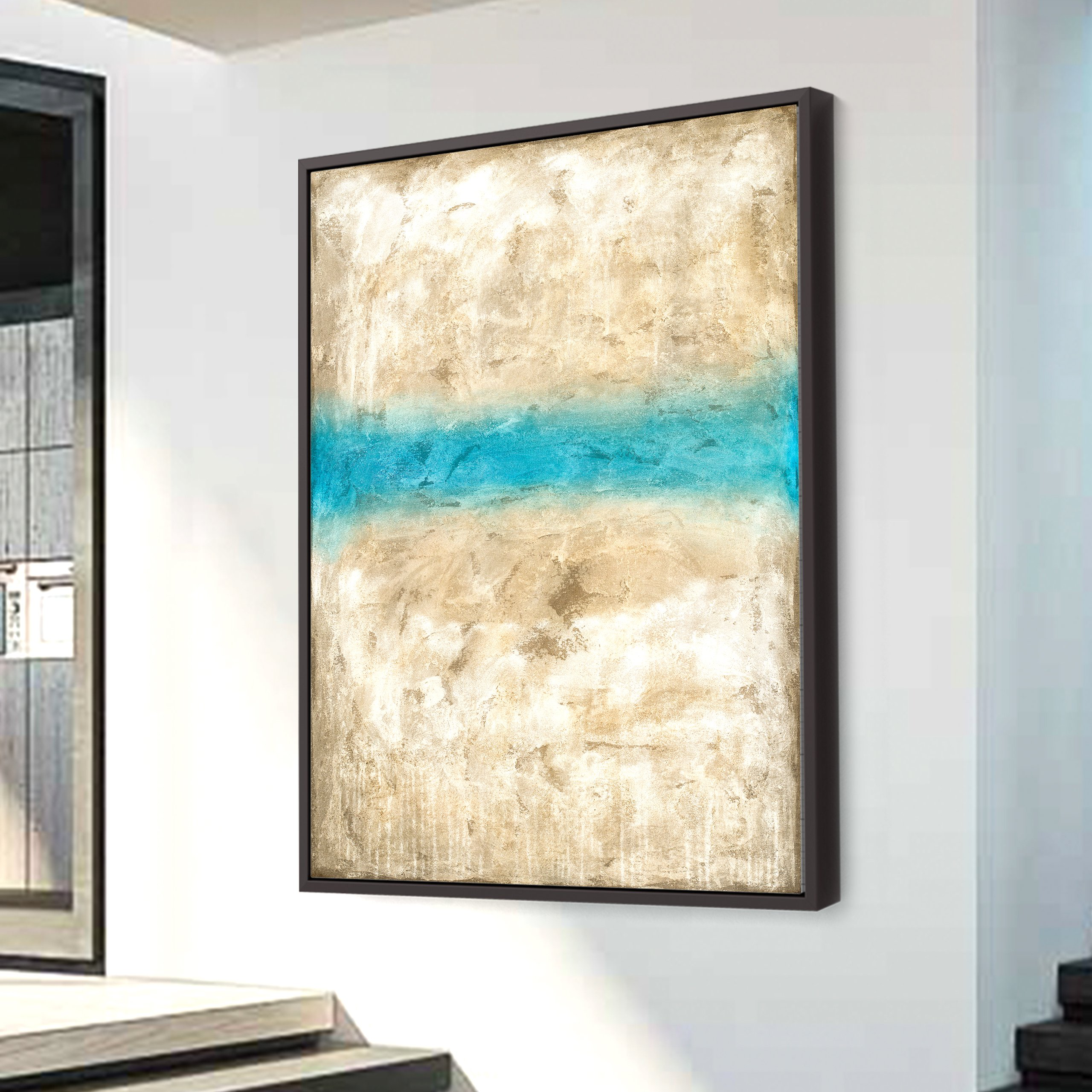 Duotone abstract painting on canvas for interior design and decor