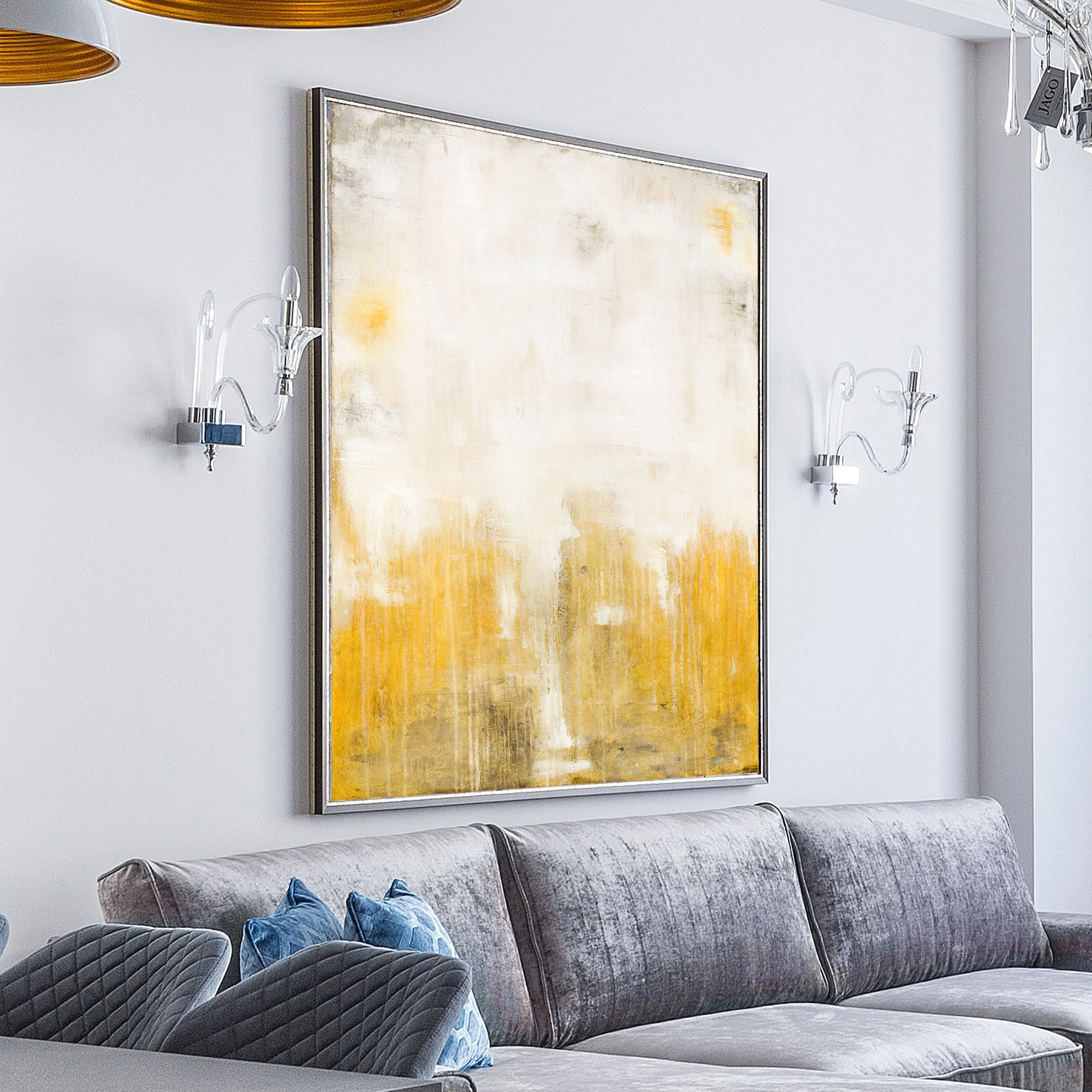 Abstract modern painting for home decor