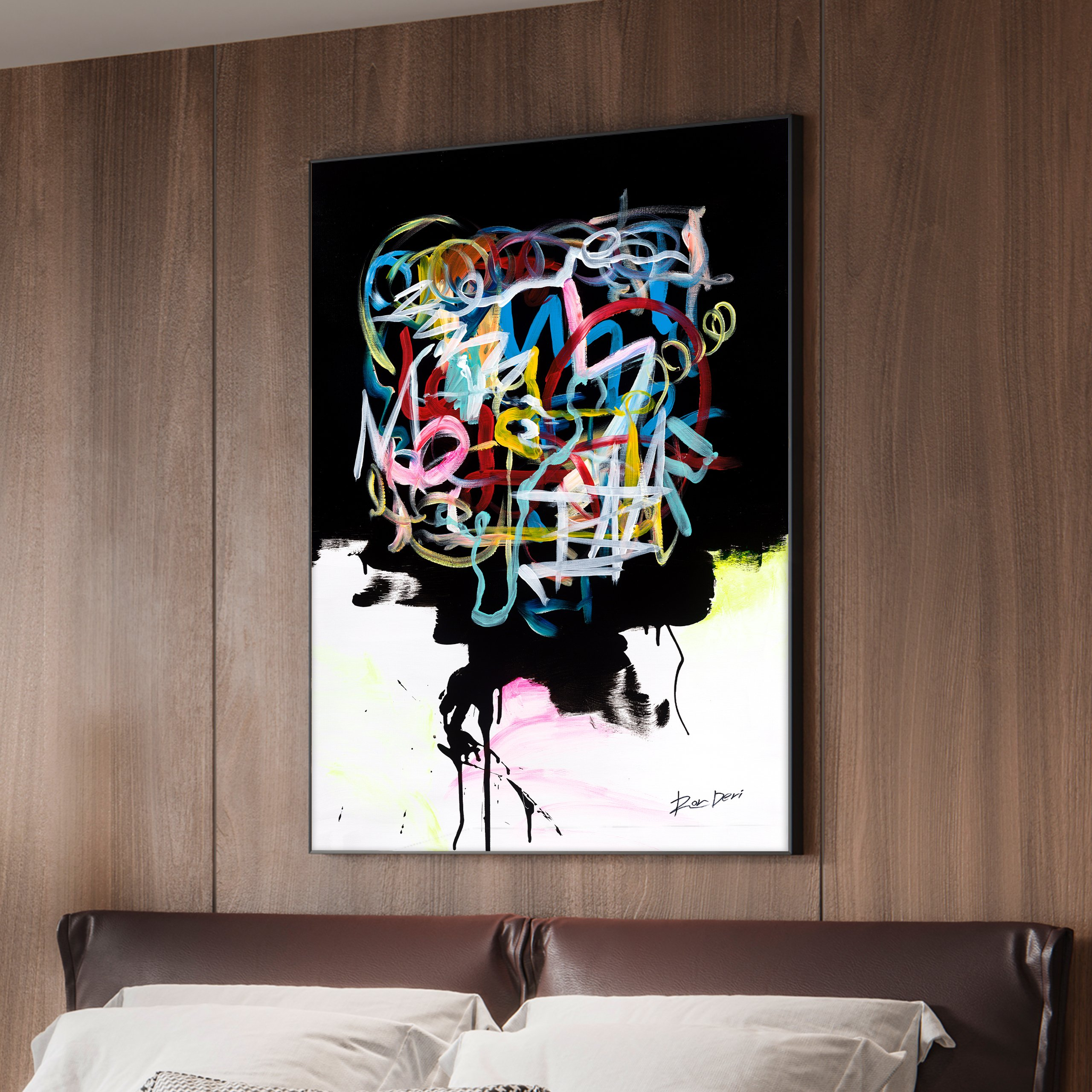 human-brain-ron-deri-contemporary-abstract-painting