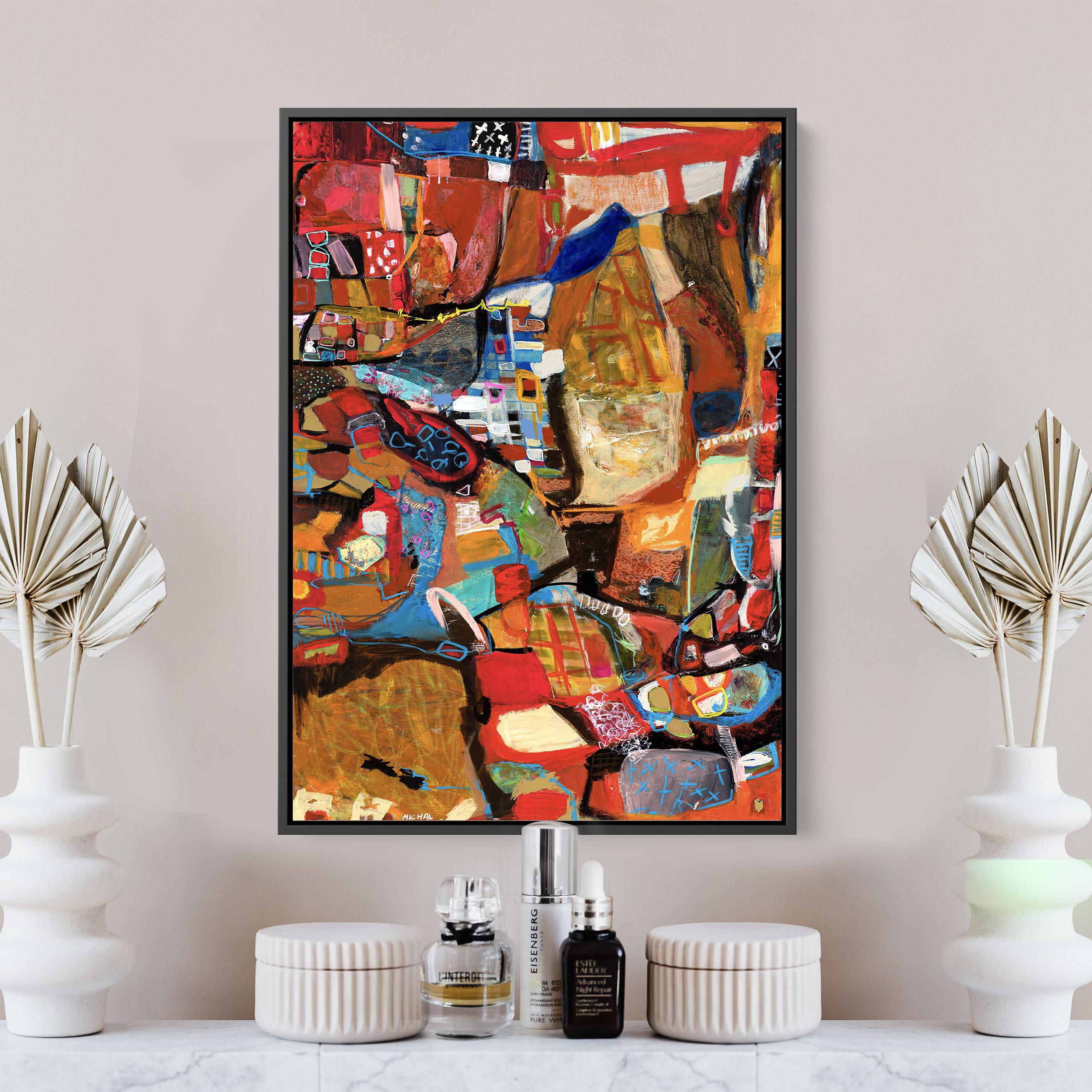 New abstract painting for home design and decor