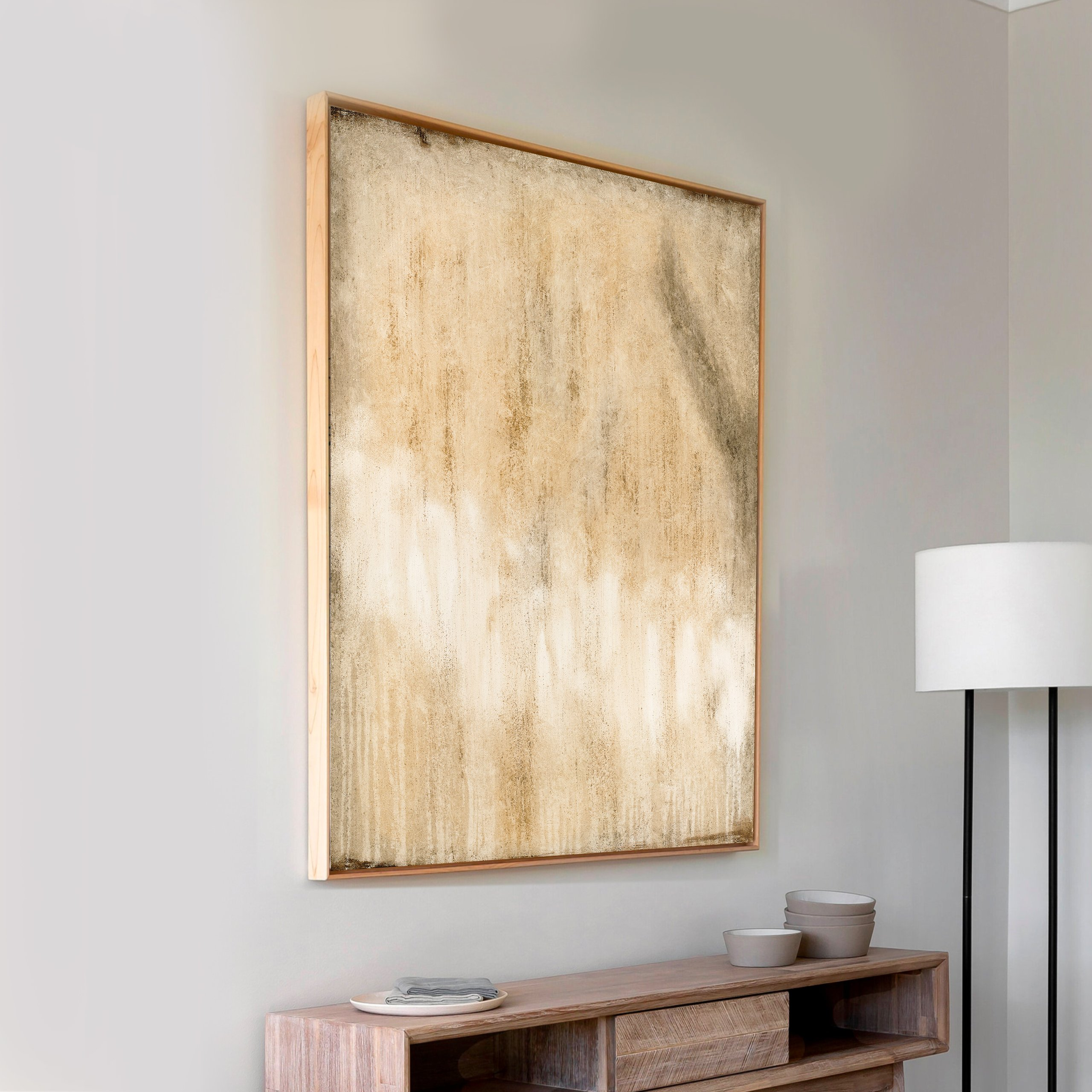Abstract canvas painting for wall decor and design