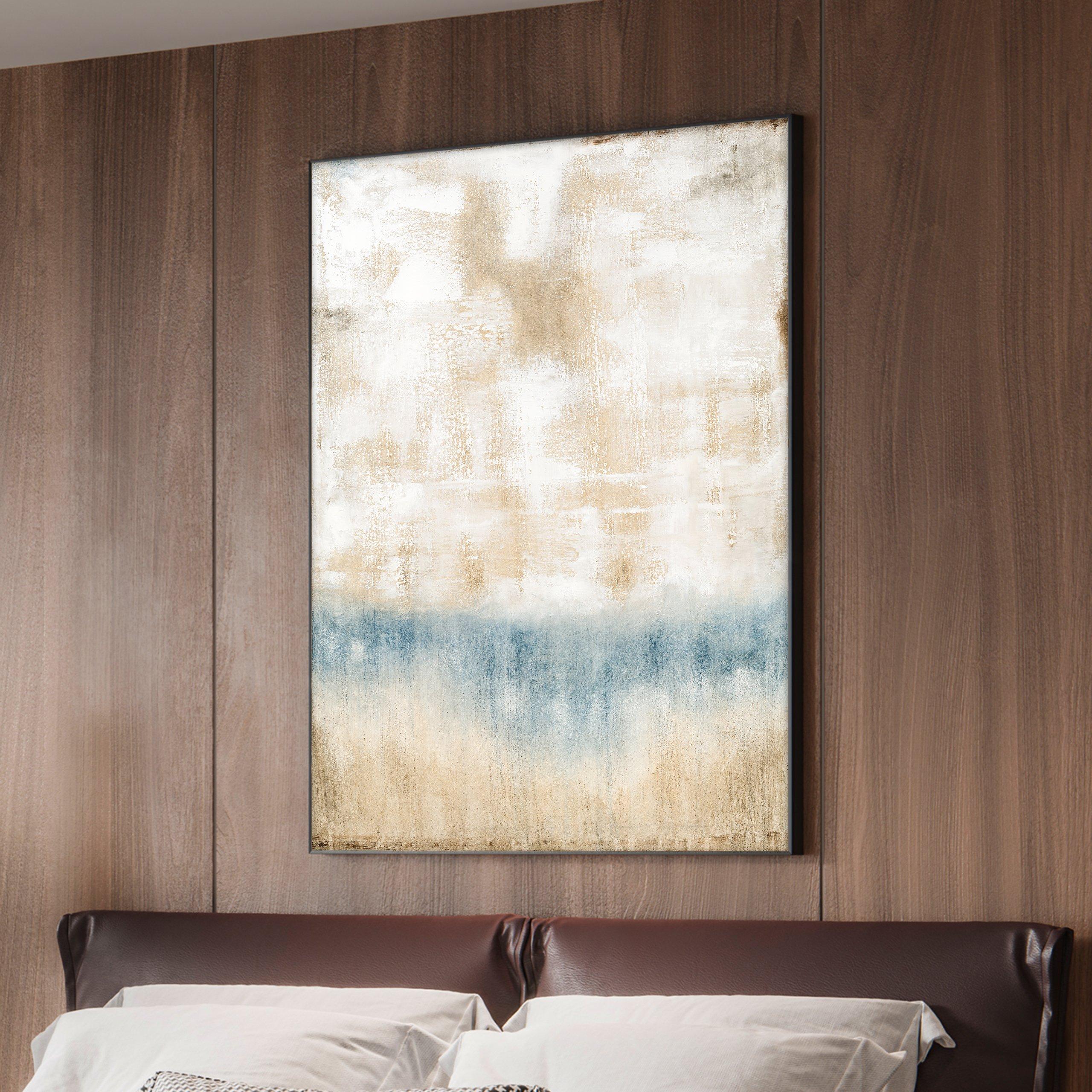 Light tone abstract modern art for room design