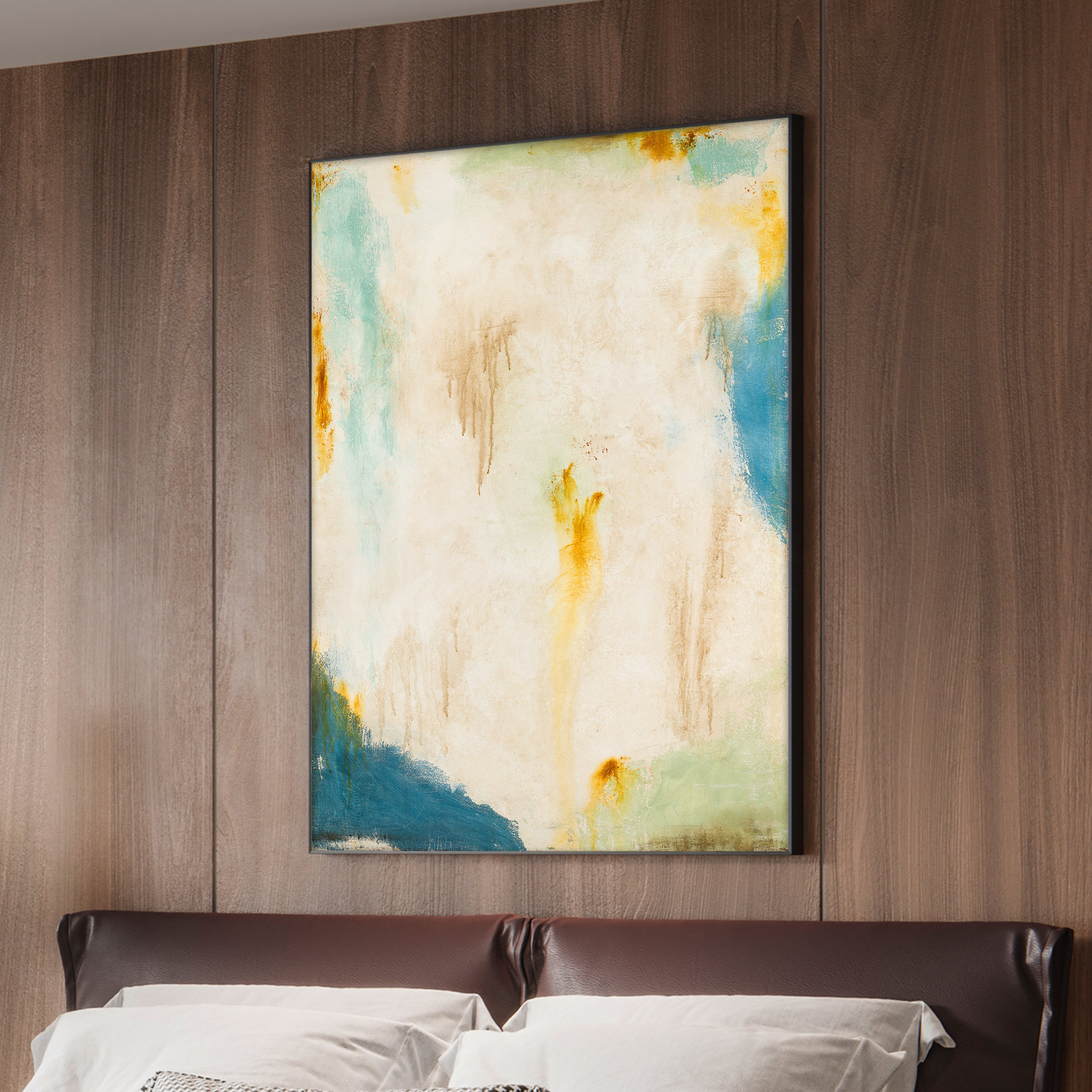 Abstract art in bedroom - wall decor