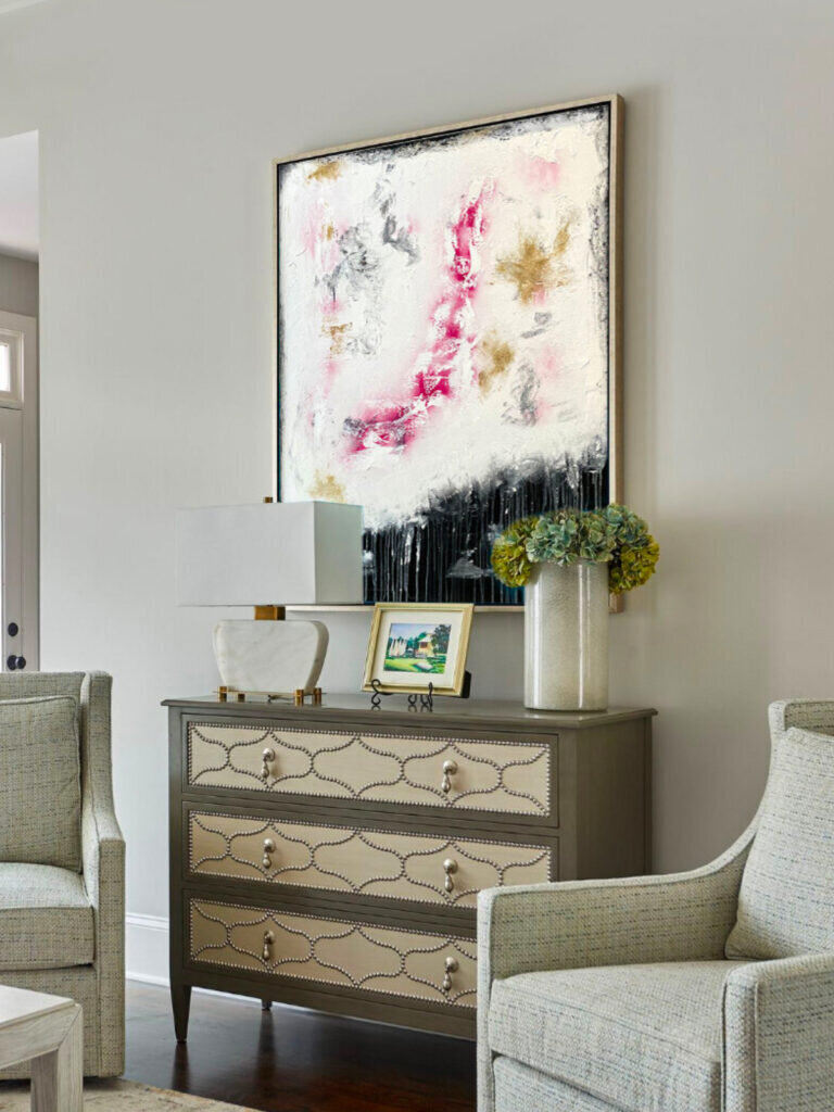 Top trending abstract art in interior design by Benny Moshe