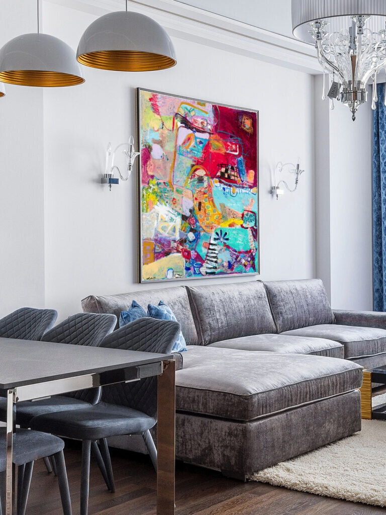 Top trending abstract art in interior design by Michal Rotman Laor
