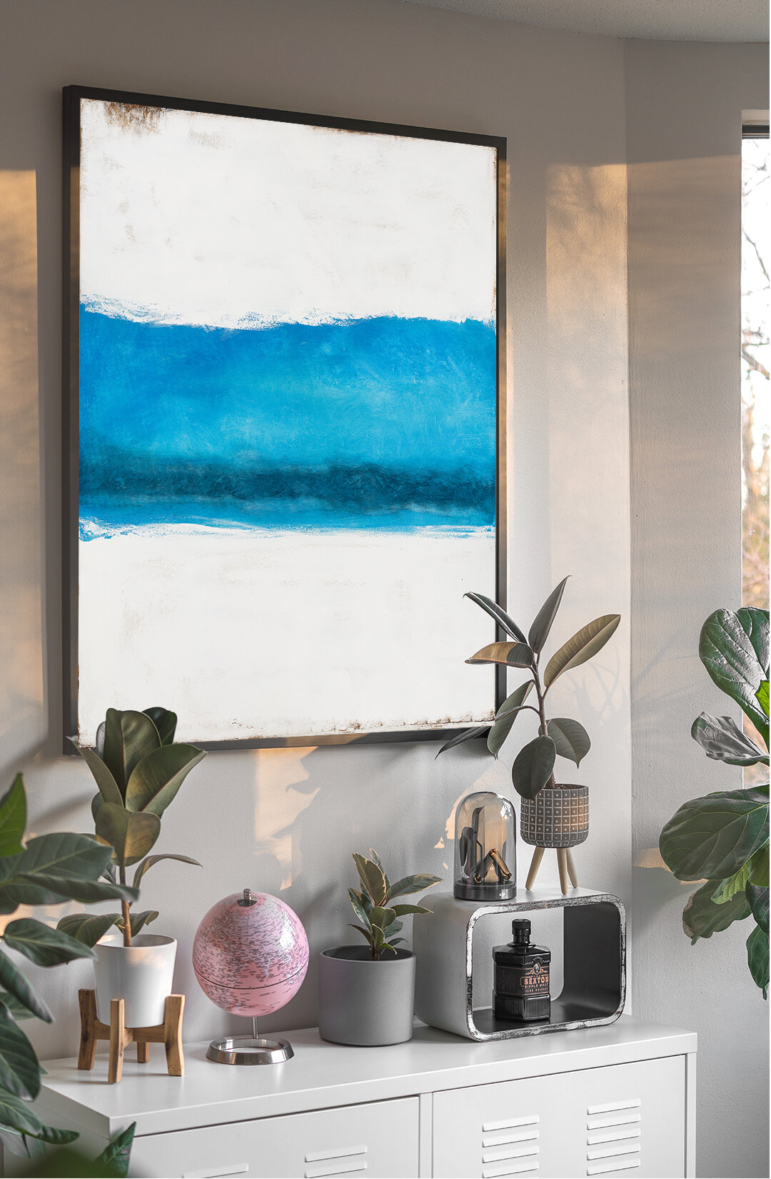 Nature abstract art trend for wall decor