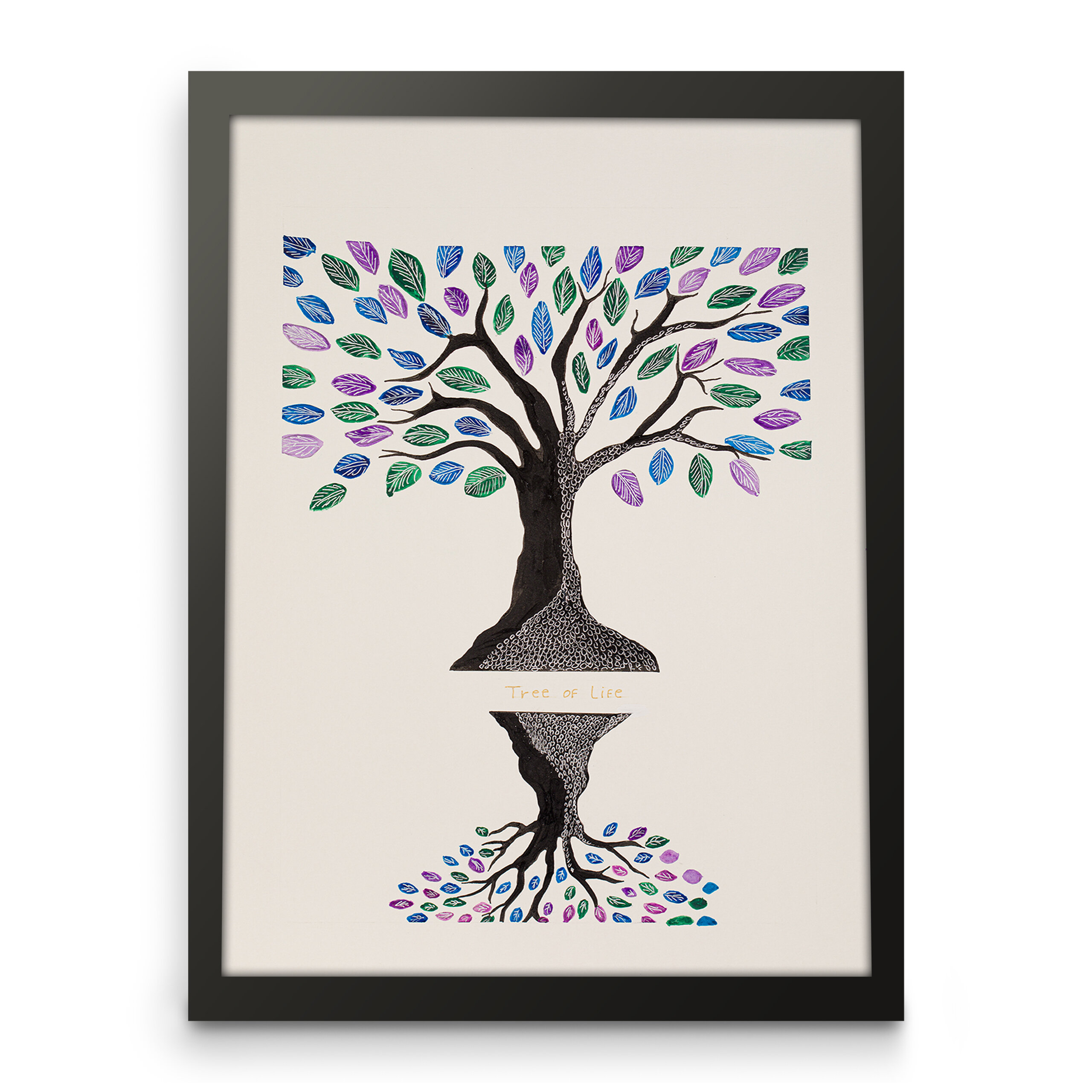 Tree of life, Paper art print, Front view