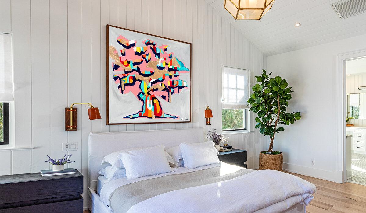 Wall decor inspiration blog post abstract art