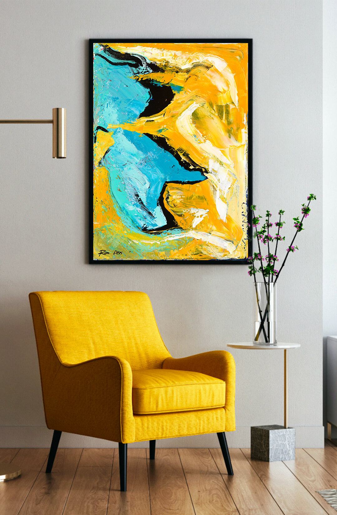 Wall decor inspiration matching colors abstract art