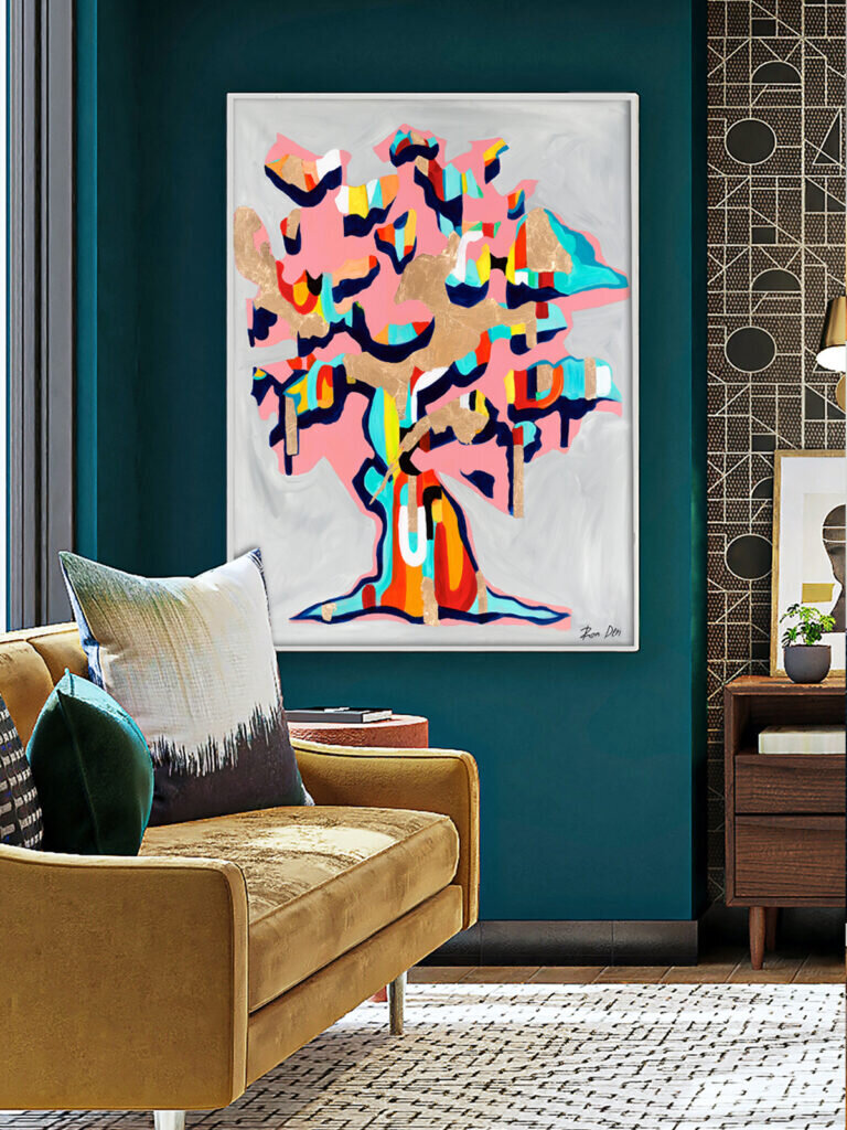 Wall decor inspiration featuring amazing abstract art